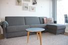 Wohnzimmer Schlafsofa mit Lattenrost